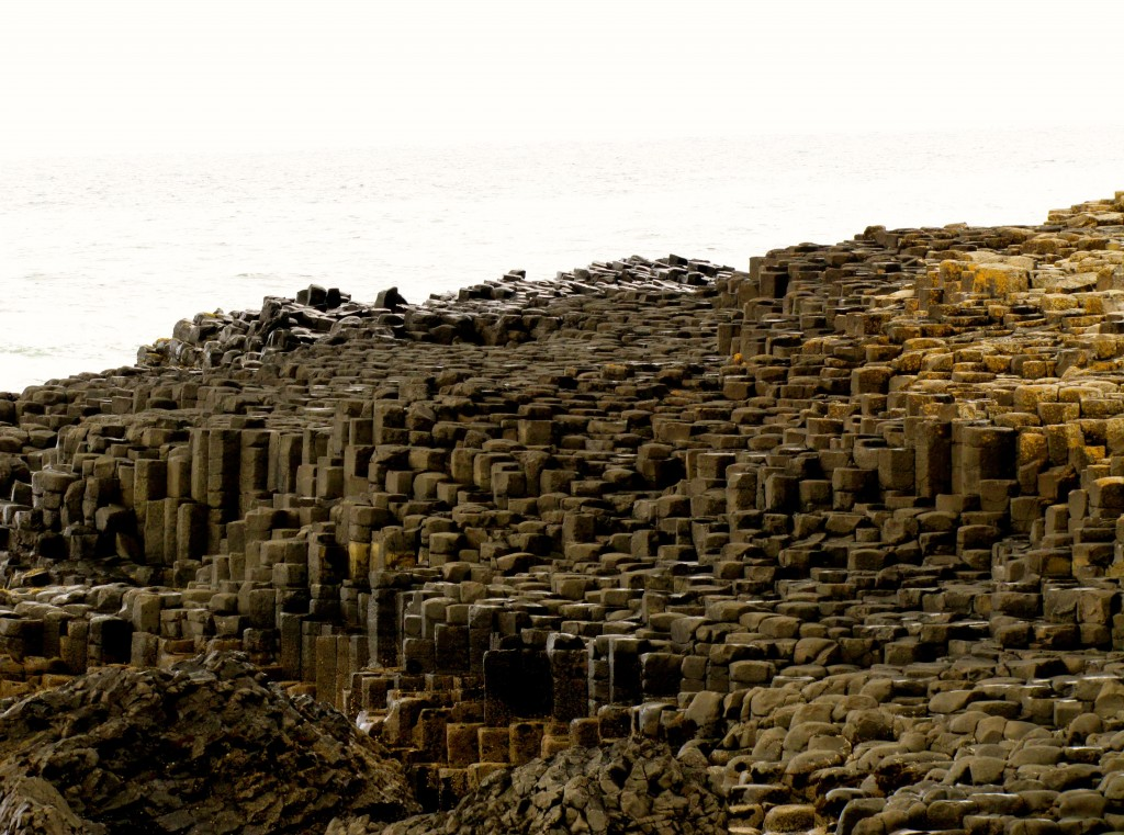 Last time I was at the Giant's Causeway, tide was high, and I was a little disappointed with the size of it. Today, the tide was much lower, and a whole lot more of it was exposed.
