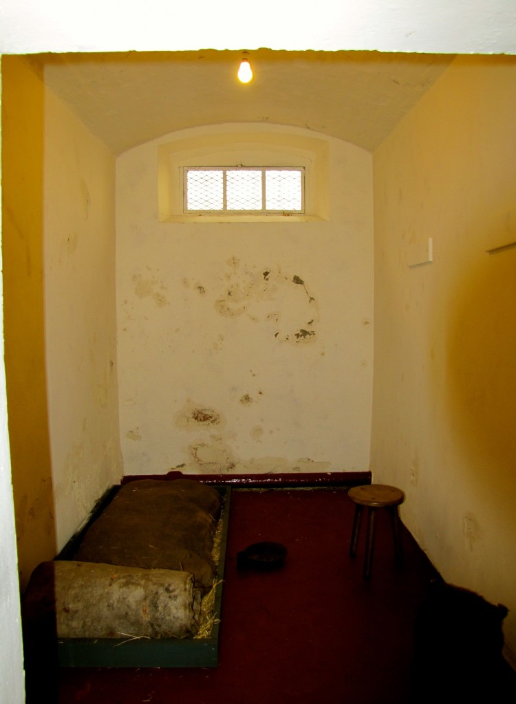 Here's a cell, furnished as it was circa 1850.