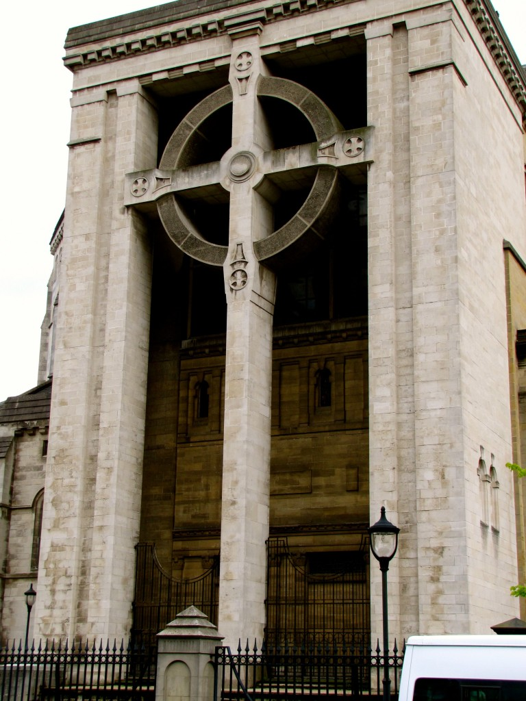 On the north side of the cathedral is the largest celtic cross I have ever seen.