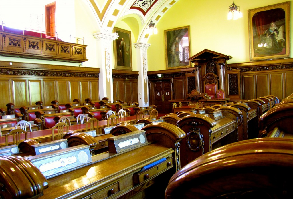 The Council Chamber. There are fifty-one city councillors, and they elect the Lord Mayor of the city from among their number for a one-year term. Lord Mayors may serve multiple terms, but never consecutively.