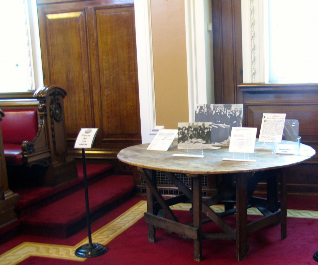 This is the actual table that the Ulster Covenant was signed on. One of the more important pieces of Northern Ireland history.