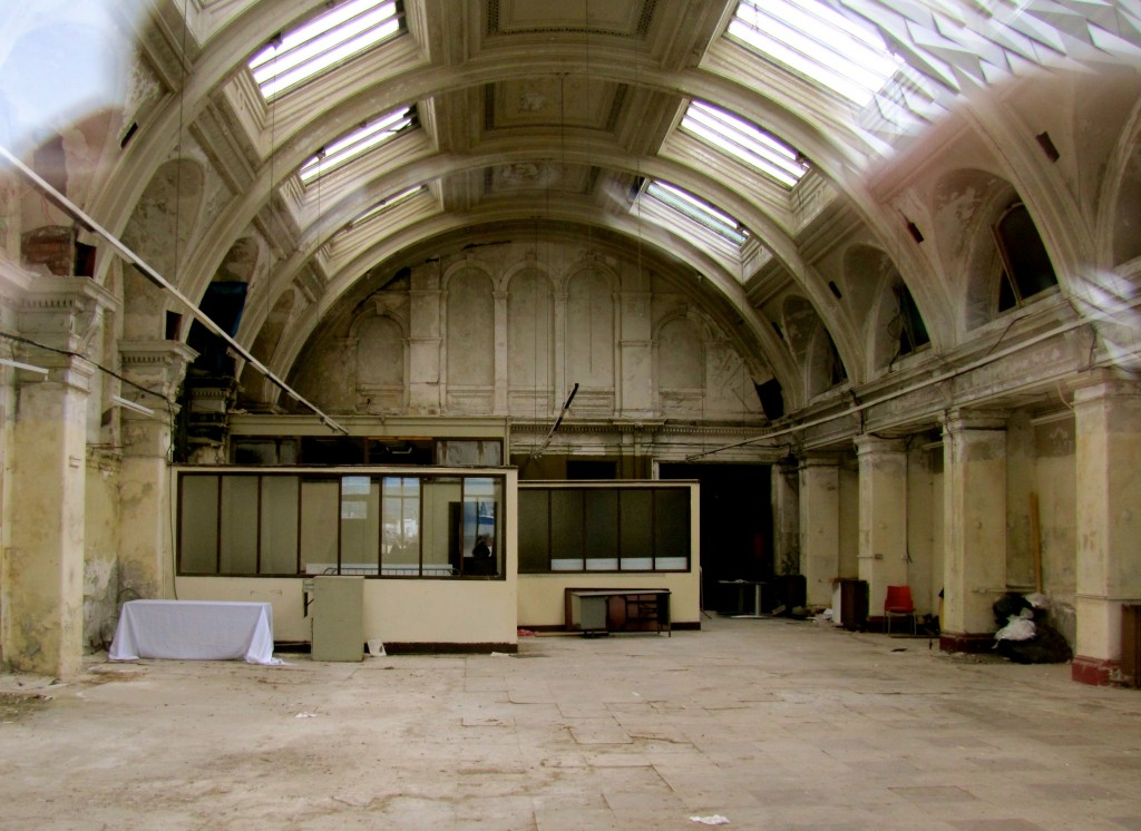 One of two drawing rooms where the plans for the ships were drafted. Note the cathedral ceiling with large skylights - called a Belfast roof - to allow a great deal of natural light for the architects and draftsmen.