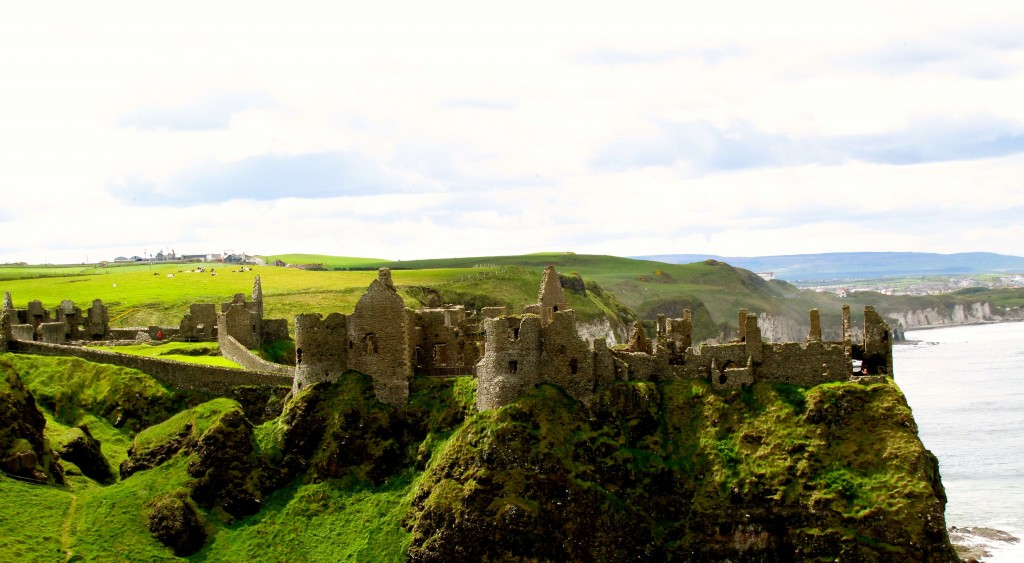 We stopped at a view of Dunluce Castle, which was very pretty, but we didn't go in. A little disappointed, but at least I went in last year.