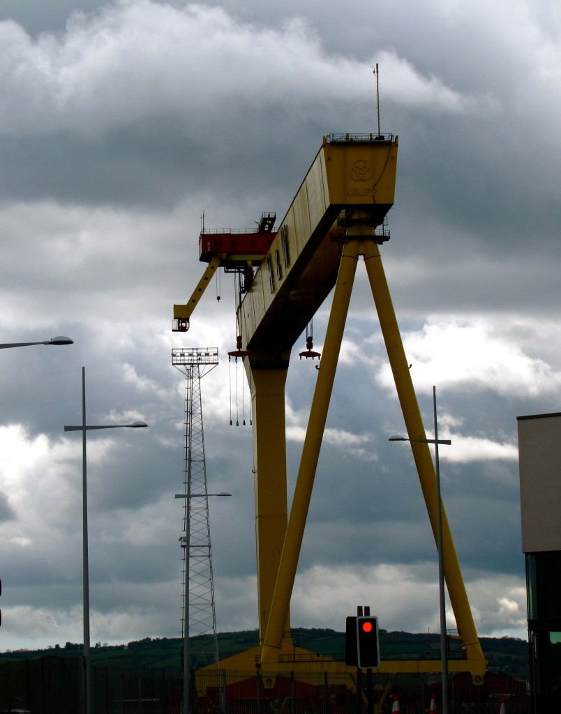 This huge crane was used to build ships. When it was built, it was so large, they named it Goliath.