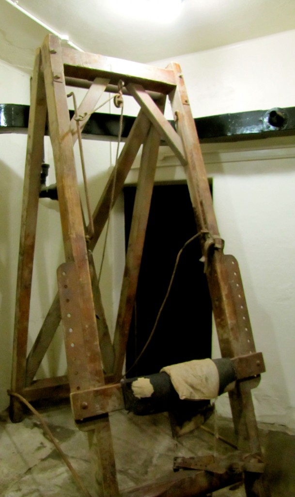The rack they used to bind prisoners upright while lashing them either with birch switches (if under 18) or the cat of nine tails (if over 18).