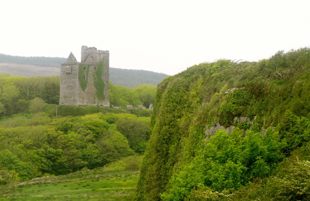 Ballinalacken Castle. Yeah, we have castles here. They're scattered all over the place. We hardly notice it anymore.