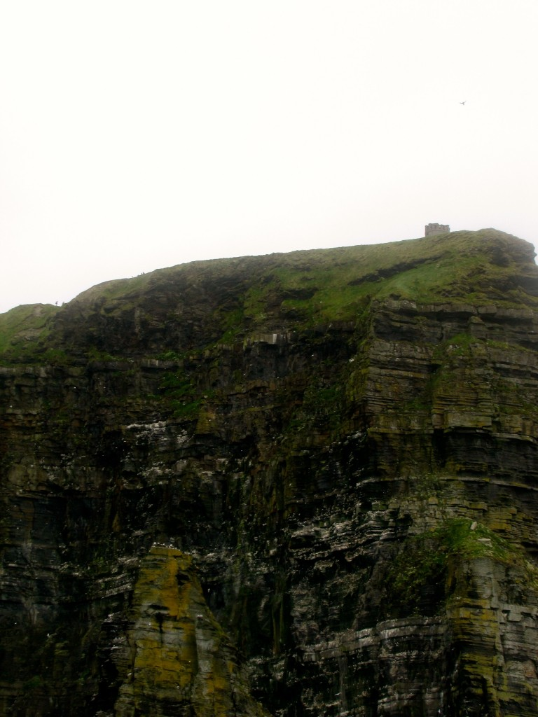 If you look very carefully and squint a little, you can see the tip of O'Brian's tower at the top of this cliff. That's where I took some good pictures of the cliffs last time.