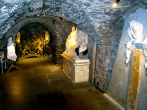 The crypts below Christchurch are extensive. A lot of the treasures of the cathedral are on display down there.