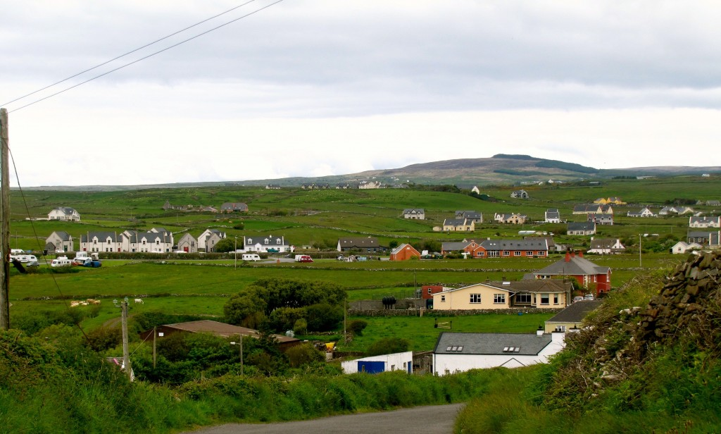 Looking down on Doolin village.