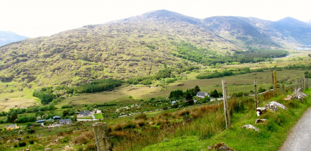 At the top of the gap, looking down the other side into Black Valley. One of the most remote places in Ireland, with about thirty families living there. They just got electricity there in 1976.
