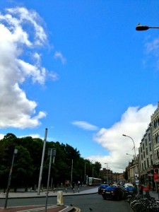 It was pretty grey when I left the B&B, but the sky was nice and blue by the time I made it down to Grafton Street. I got overly optimistic at that point, and decided it was going to be another beautiful day.