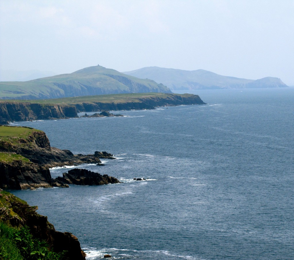 On up the coastal road is a little spot called Fahan. It's got great views of the Dingle Bay cliffs.