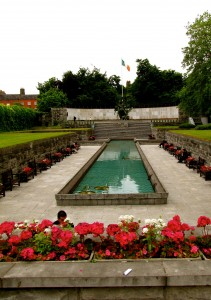 Not far from where this happened, at the top of Parnell Street (which used to be Great Britain Street), there is the Garden of Remembrance. It's there as a memorial for all who died in defence of Ireland, in whatever conflict.