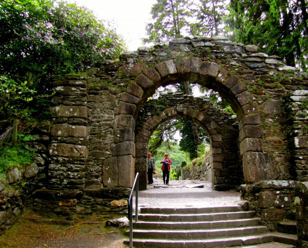 Glendalough had a thriving monastic community from about the 6th century up to the 13th century. These are the gates leading into the monastic city.