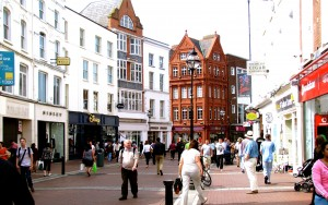 I made it back to Grafton Street. It was very busy - the weather in Dublin was nicer than it had been in Kilkenny, and everyone was taking advantage of it.
