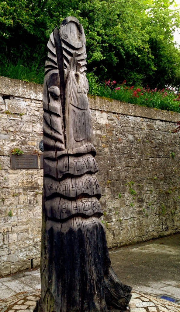 A bog-oak statue called Hunger for Knowledge. It features the salmon of knowledge, and is carved with various mathematical and scientific formulae. Obviously a modern work, but very cool.