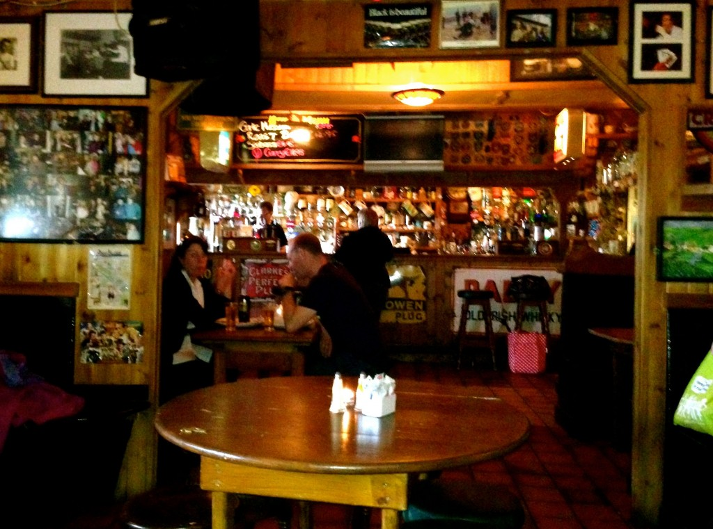I just realized that I haven't shown you the inside of McGann's Pub, except for the musicians. Here's the actual pub part.