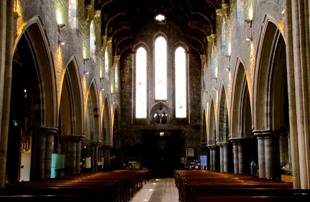 The interior of St. Canice's Cathedral.
