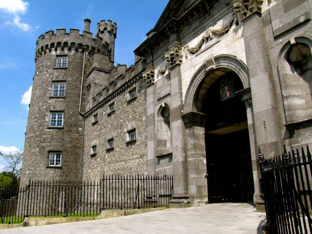 The main gates of Kilkenny Castle. Entry onto the grounds is free, and there were scores of people wandering around looking at stuff or just sitting on the grass when I went in.