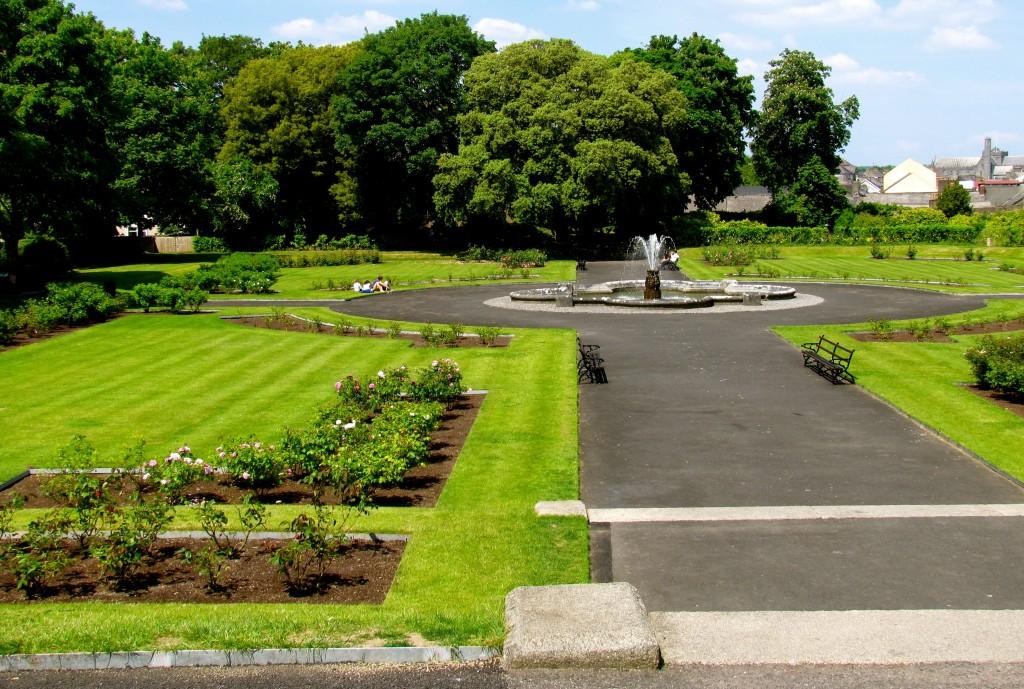 The Rose Garden adjoining the castle.