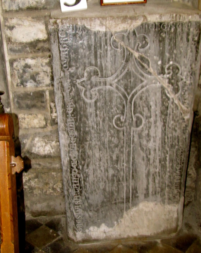 This inscribed slab was found near Kyteler's Inn, home of the famous witch Dame Alice Kyteler.