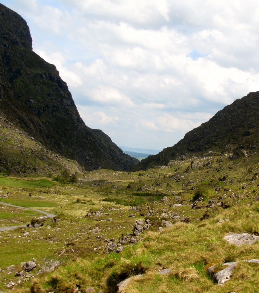Looking back down the Gap of Dunloe towards Kate Kearney's Cottage.