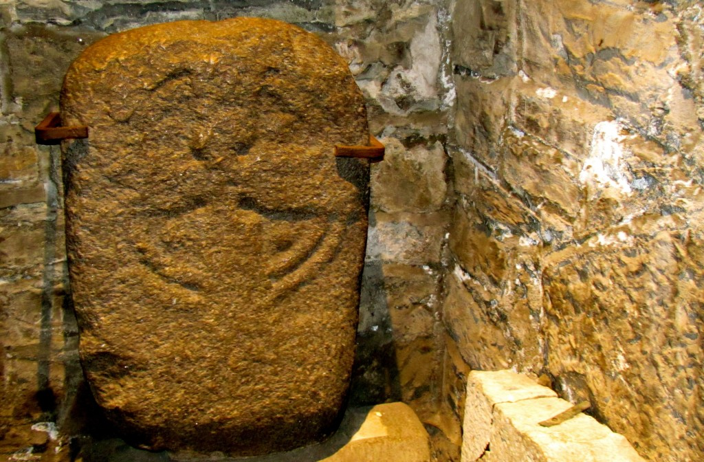 The lucky stone of St. Audoen's. There's a long write-up on the history of the stone, and all the strange things and miracles attributed to it. John told me to be sure and touch it, as it would grant me luck for a year.
