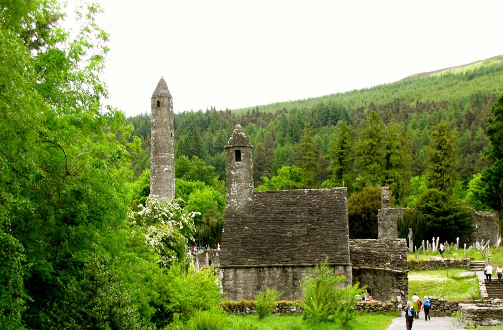 This is the view of the Glendalough site from across the little river, as I start up the trail towards the two loughs.