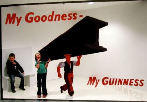 This was kinda neat. It's a forced perspective room that lets you recreate one of the iconic Guinness advertisements.