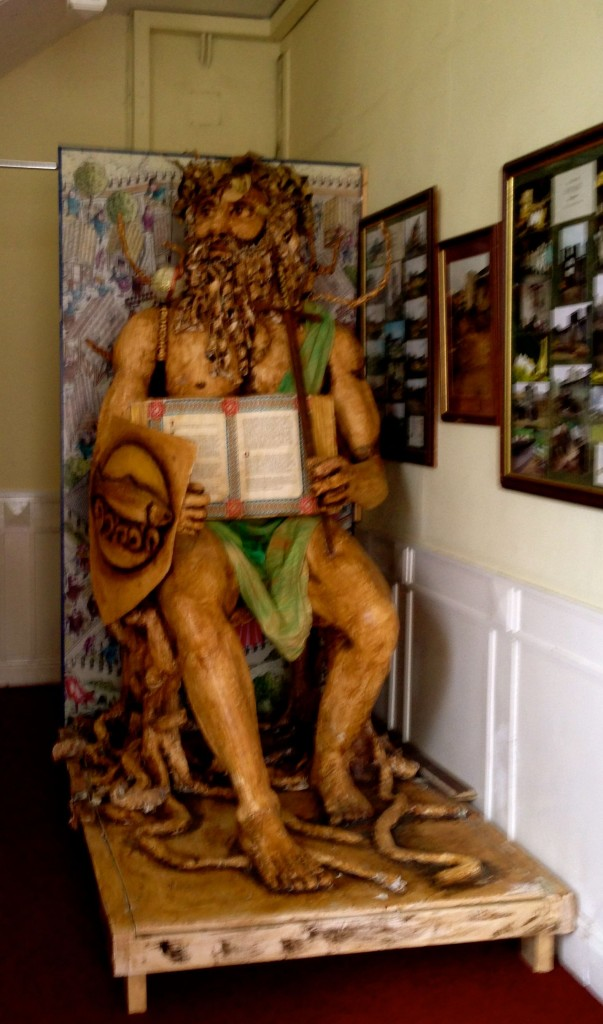 One of the river god statues so prevalent in the southeast of Ireland. This is the Boyne.