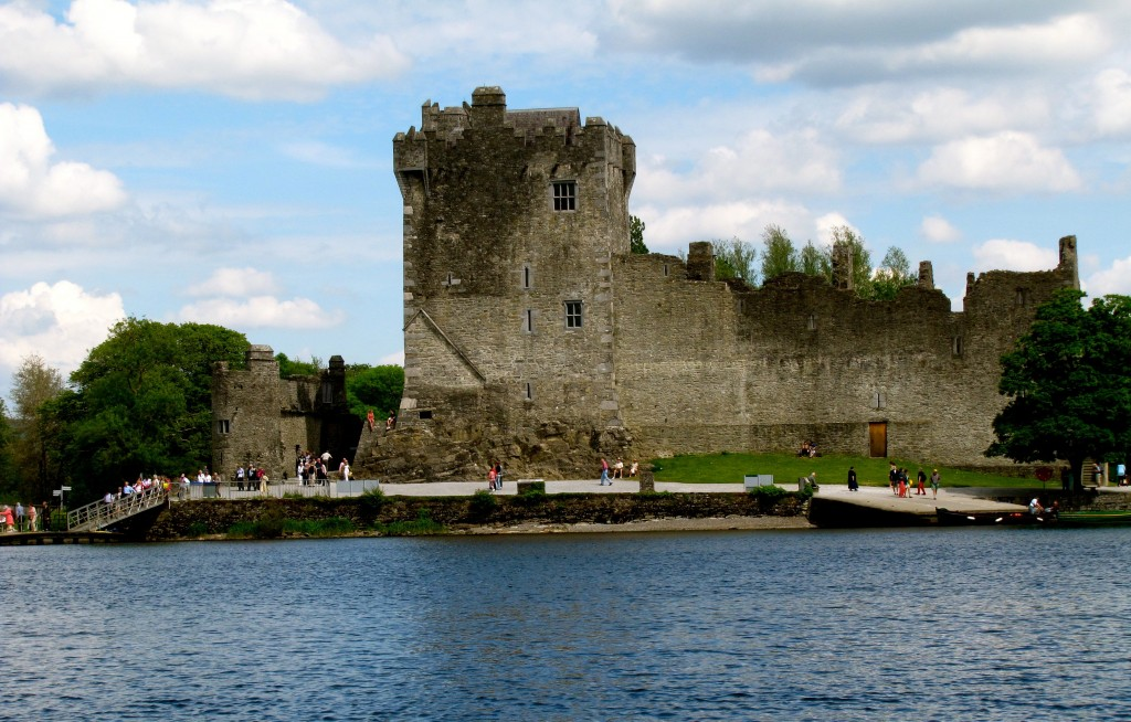 We dock at Ross Castle, about a mile from the town of Killarney.