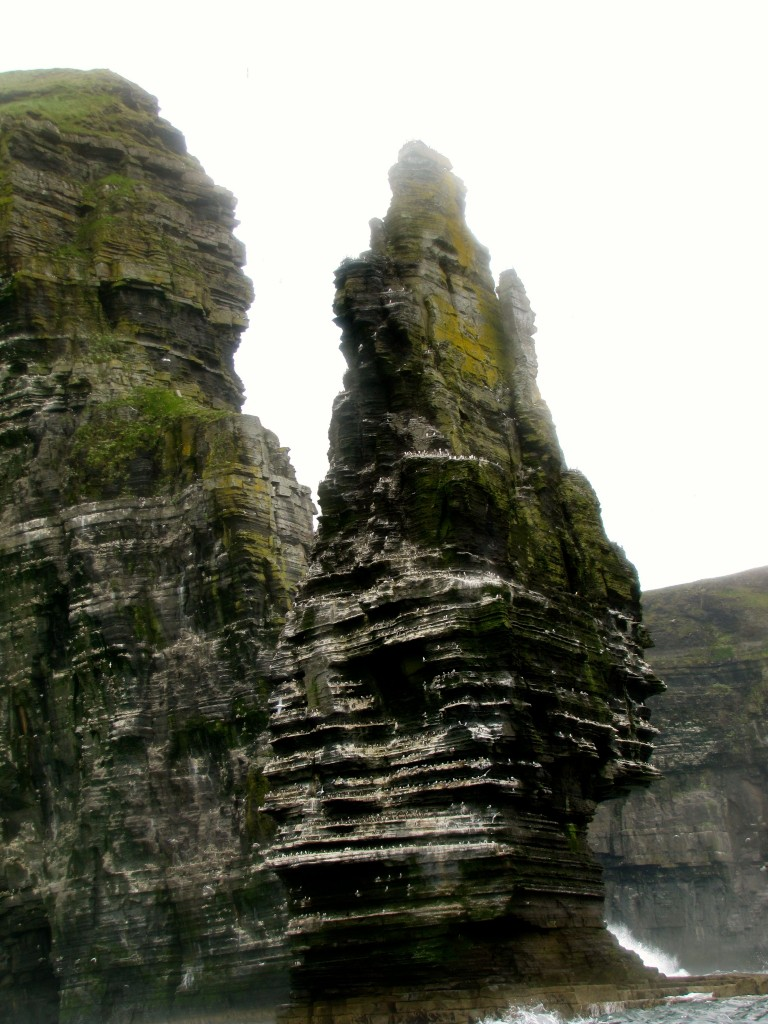 This spire of rock at the base of the cliffs is just awe-inspiring.