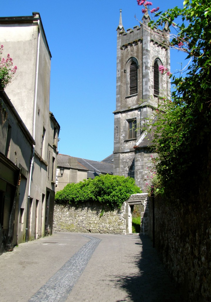 St. Mary's Church is down a twisty, narrow alley from the Alms House.