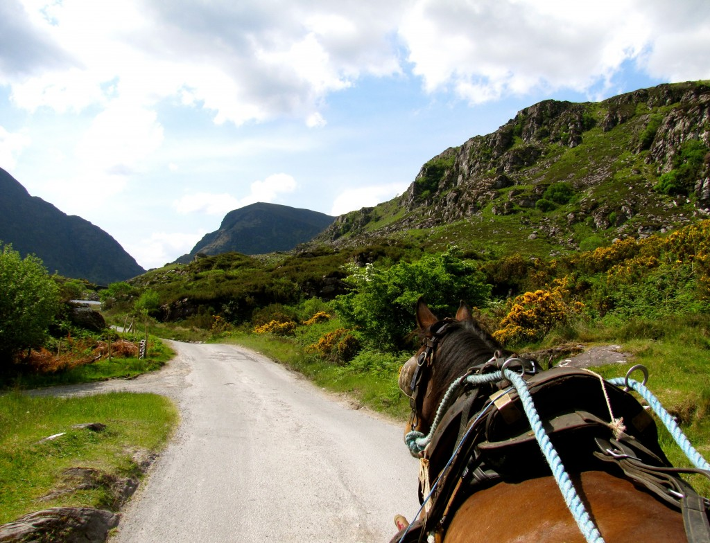 So we started up the gap, me and two charming Irish ladies, and the driver.