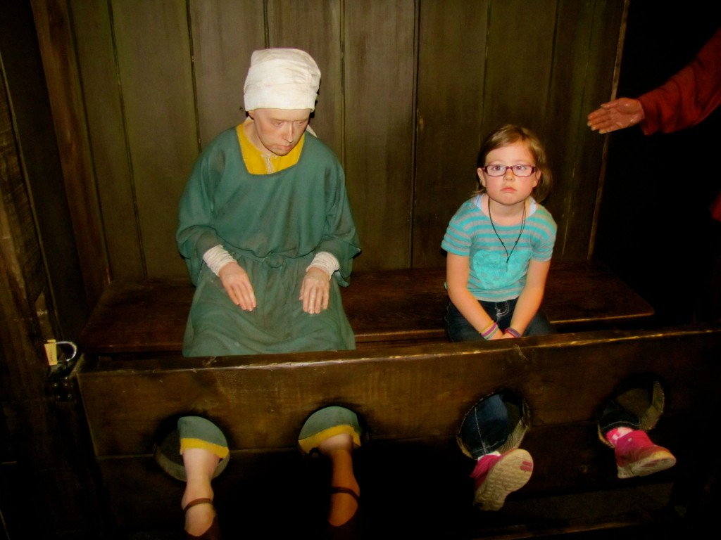 Keira made a new friend who led her astray. They both wound up in the stocks.