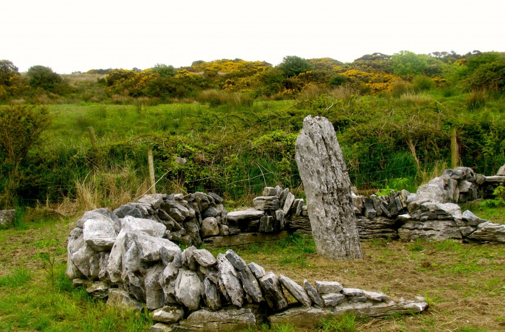 The stones are all gathered from the limestone that makes up the Burren.