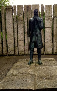Thanks to the rain, though, I was able to get a picture of the statue of Wolfe Tone at St. Stephen's Green without a whole bunch of people around it.