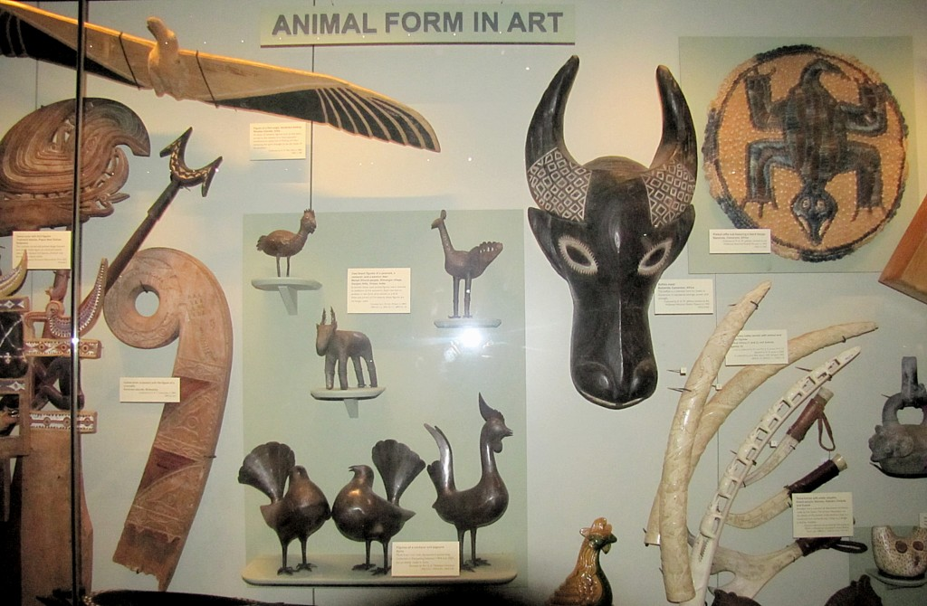 For example, there's a section of animal figures in art.