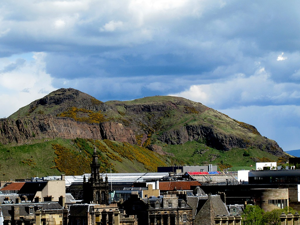 So, I had this idea about climbing Arthur's Seat. It's a fairly smooth path up the Salisbury Crags to it, and it offers amazing views of the city. But here, I got a good look at the place from the parade ground of Edinburgh Castle, and nope, I don't think I'm gonna be climbing that.