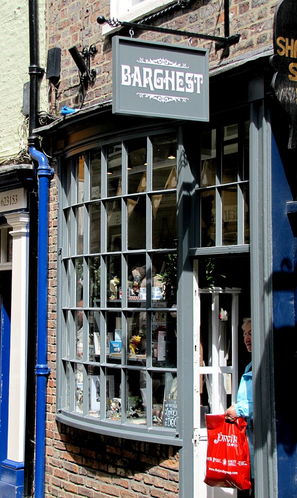 One of the shops in the Shambles is Barghest. It's full of dog-related merchandise. A Barghest is a monstrous, ghostly black dog in the folktales of Yorkshire.