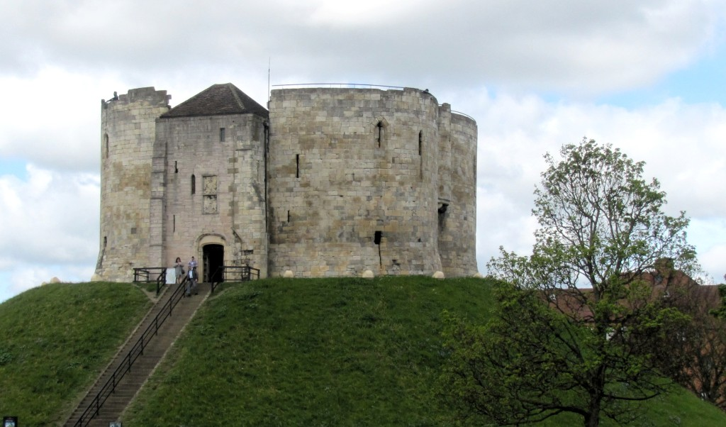 Clifford's Tower was the keep of the old York Castle that used to stand here. It's just a hollow shell, now; neglect, and a 17th century mishap where the powder stores were ignited during gun salute blew the top off the tower.