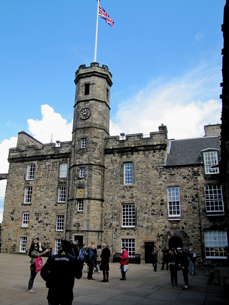 "This building holds the Scottish Crown Jewels: the crown, sceptre, sword of state, some other jewellery, and the Stone of Scone. This was just returned to Scotland in 1993, with the understanding that it must travel to Westminster to be used in any future coronations. ""If it doesn't come back quicker than the 700 years it took last time,"" said our guide, Frank, ""There might be trouble."""