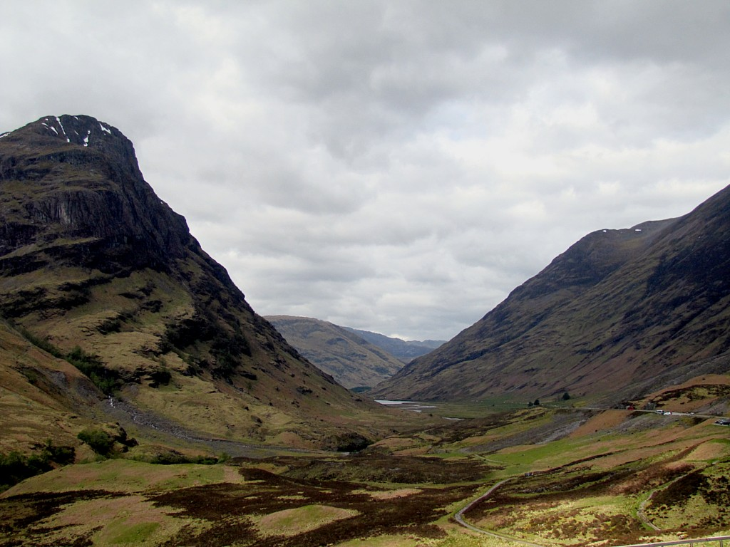 This is looking down the valley at Glencoe. Tell me that's not some top-drawer scenery.