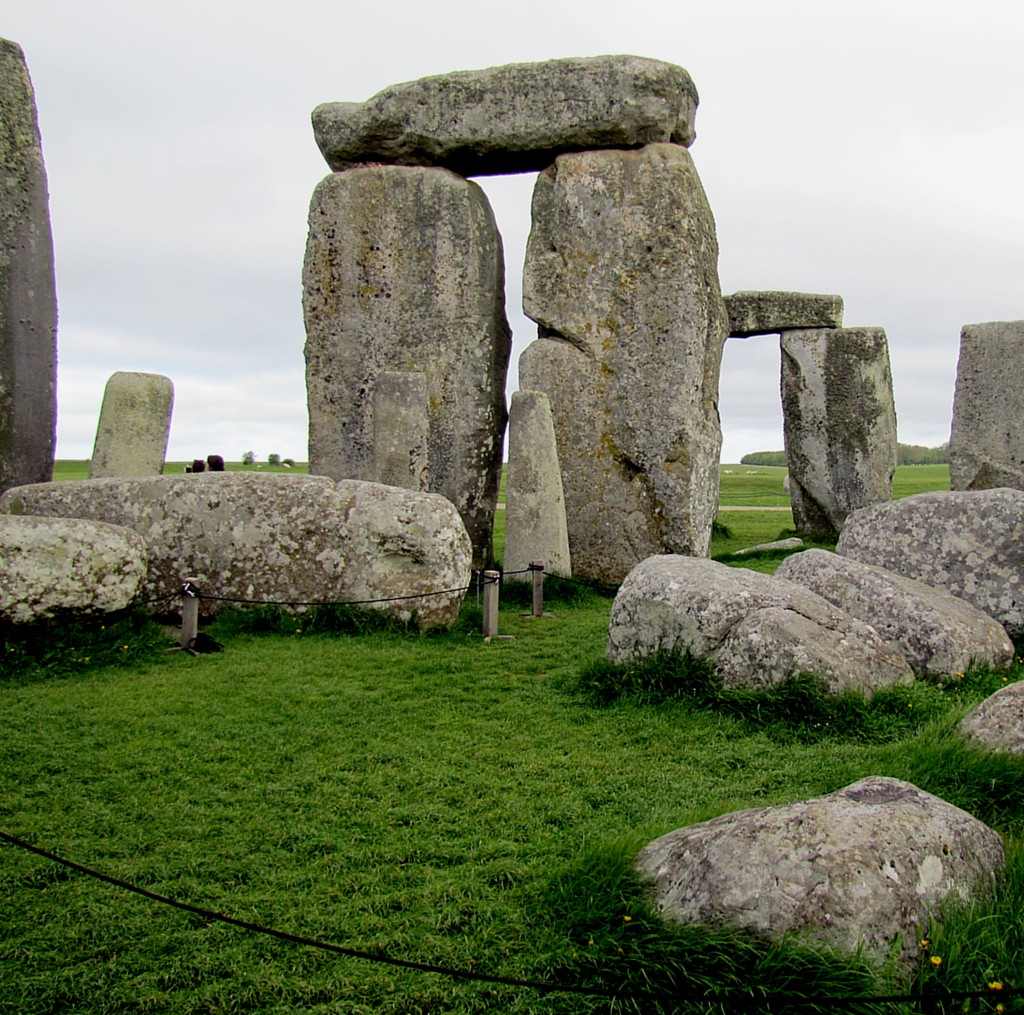It was kind of heady standing in the middle of the place. The stones are only about 2/3 of their height above ground; the other third is buried so that they don't fall down. Still, almost 5000 years of time and abuse will knock some down.