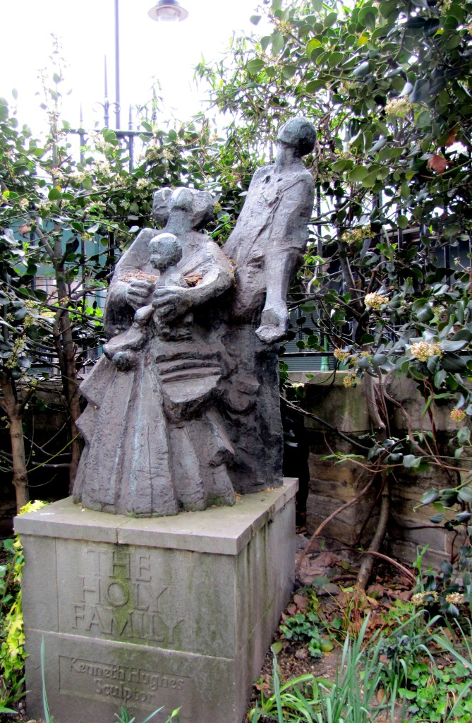 This very cool statue of the Holy Family sits in the corner of Southwark Cathedral grounds.