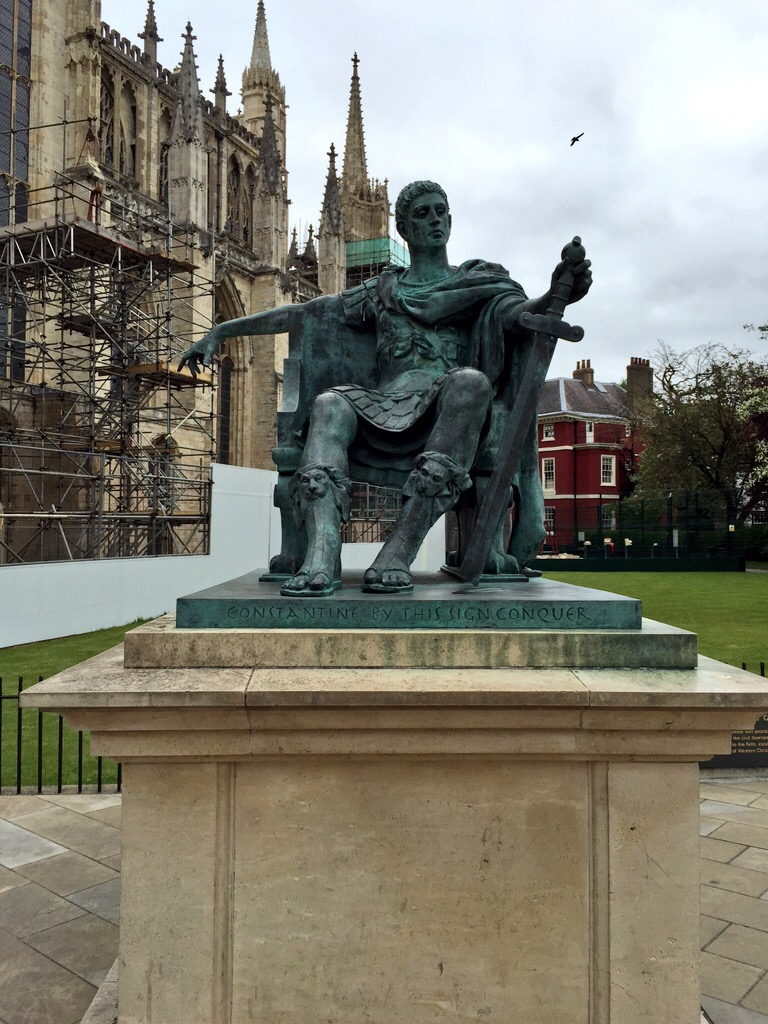 Outside the Minster is a statue of Constantine the Great. He was here in 306 when his father, the Emperor Constantius, died, and Constantine, with the support of his army, declared himself Emperor.