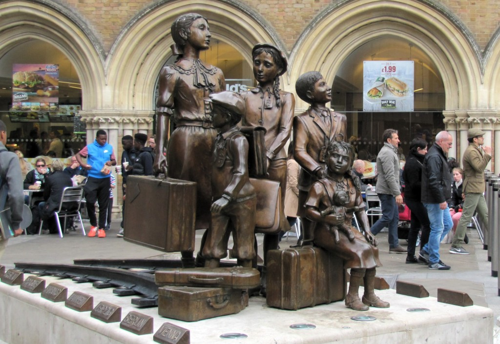 This statue is out one of the Liverpool Street Station entries. It's called the Kindertransport Memorial, and shows children being shipped away from London during the second World War.
