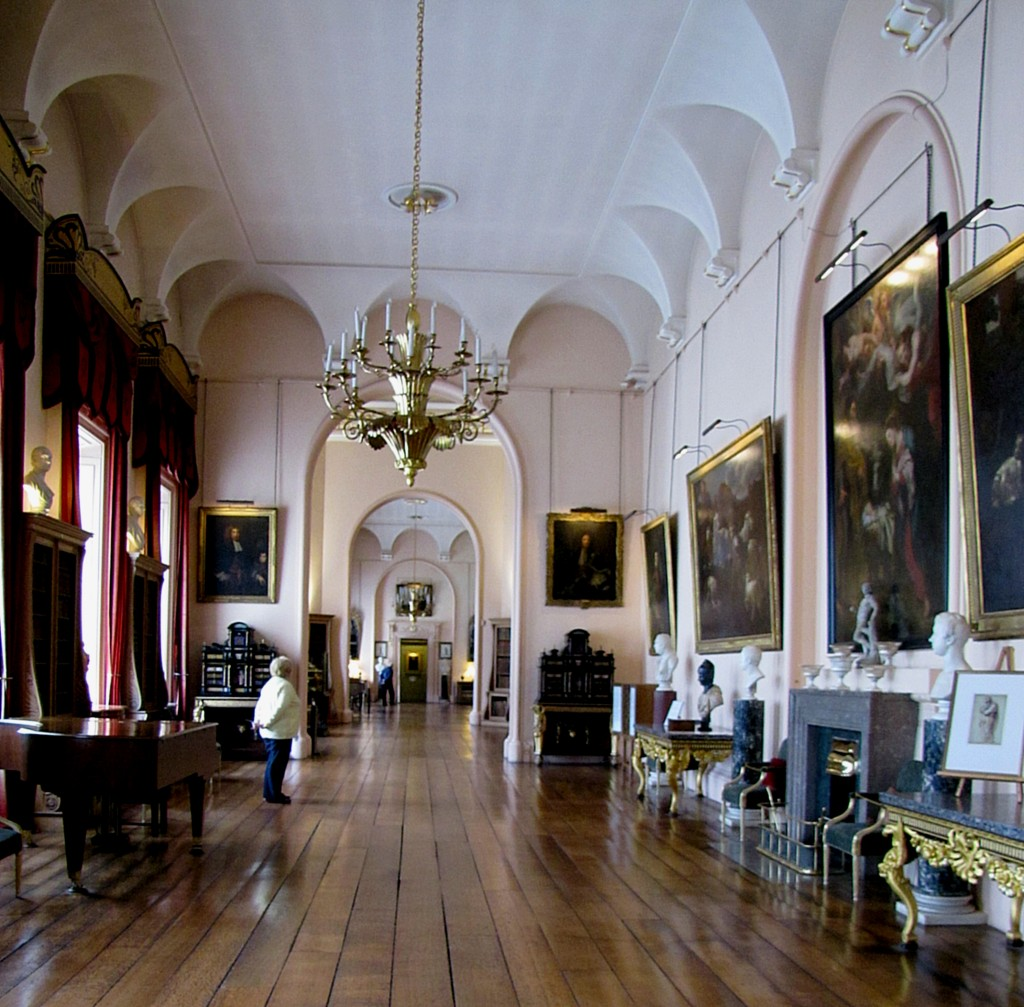 The long gallery of Castle Howard.