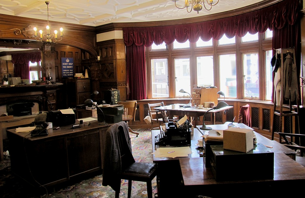 One of the administration offices in the mansion. Of course, this is a reproduction of what it would have looked like.