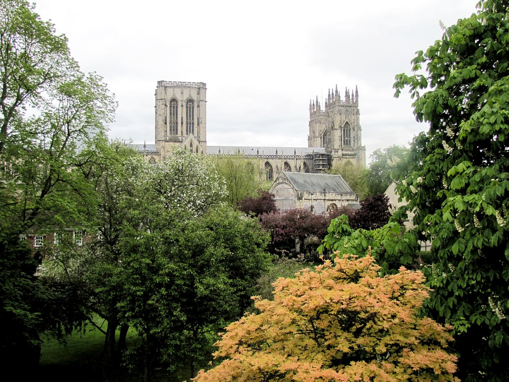The Minster dominates the view, when the trees aren't in the way. By civil ordinance, no building can be as tall as two-thirds the height of the Minster.